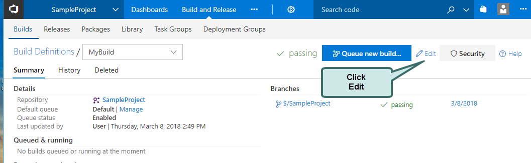 Using Eyes with Azure DevOps Extension