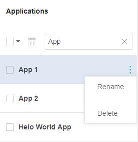 Deleting application names