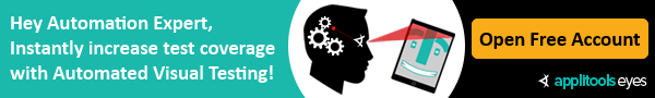 Increase coverage in minutes - with Applitools Eyes Automated Visual Testing