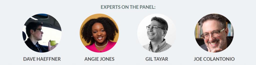 Angie Jones, Dave Haeffner, Gil Tayar, and Joe Colantonio - Expert Panel, Oct 2018