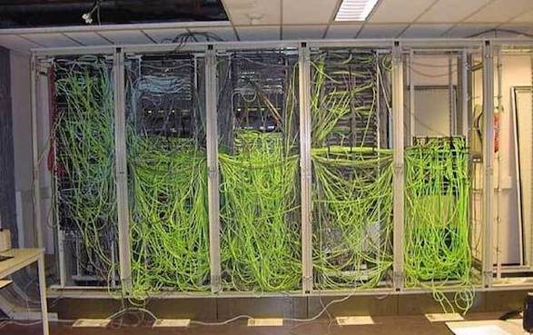 Messy network cables