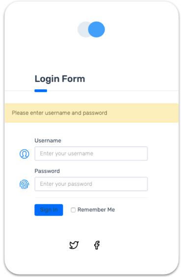 sample login form