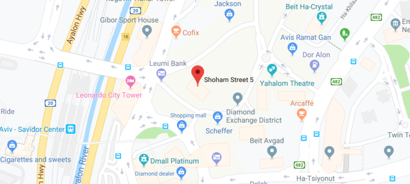 screenshot of Israel Office map