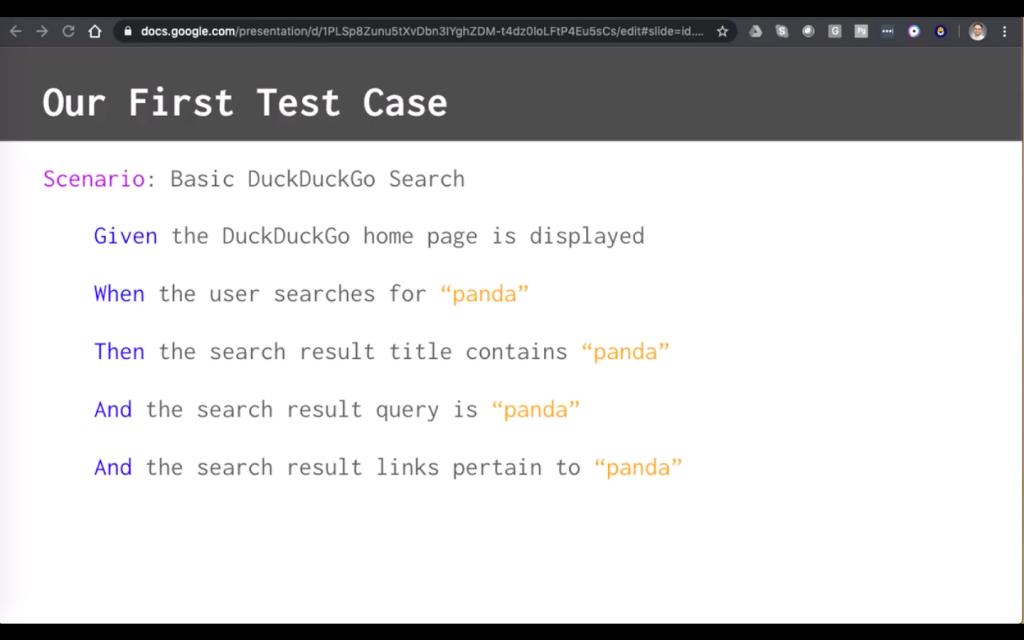 first test case