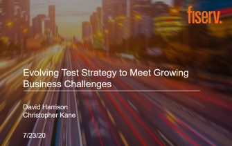 Evolving Test Strategy to Meet Growing Business Challenges -- Fiserv Use Case of PDF Testing