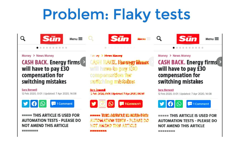 flaky tests