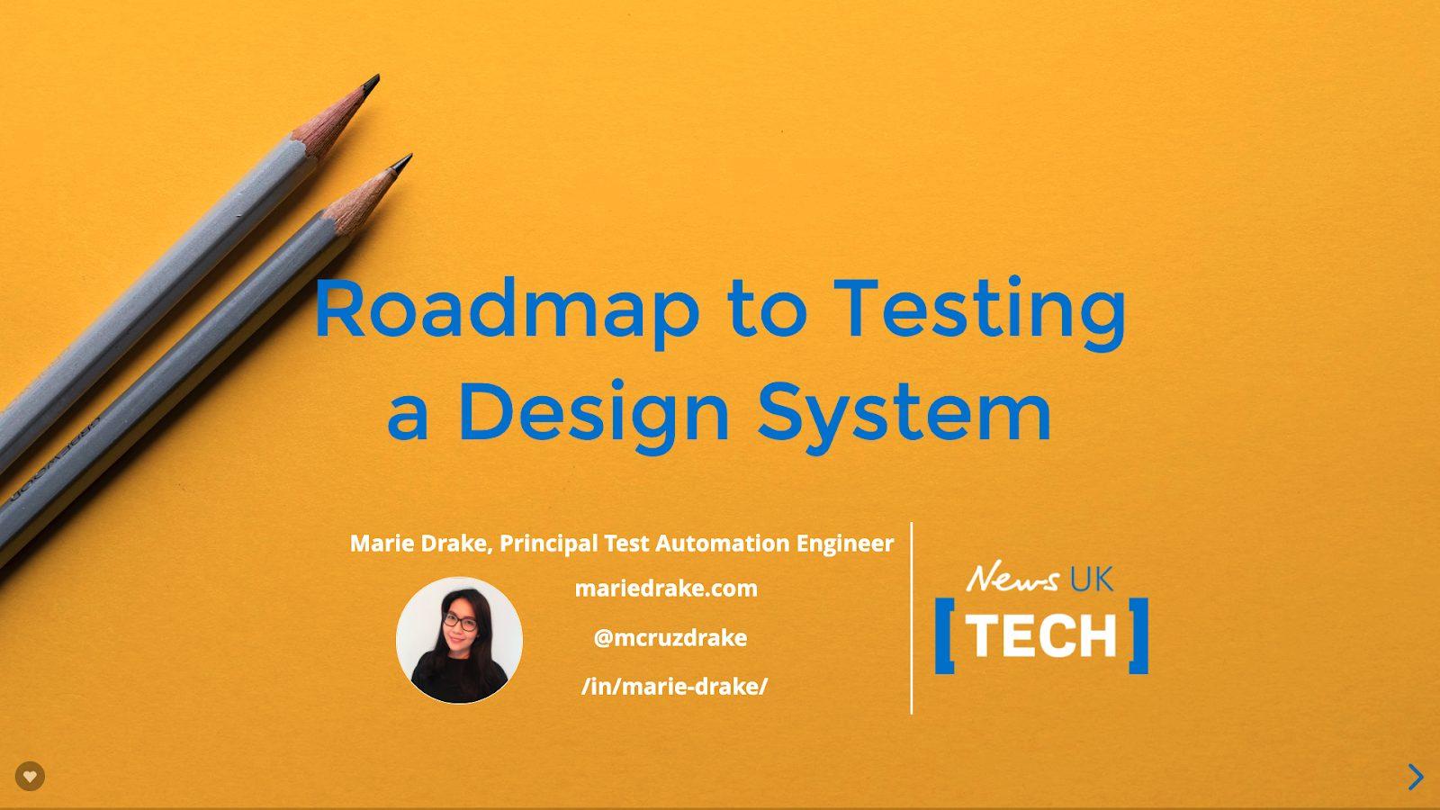 roadmap to testing